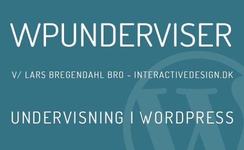 Undervisning i WordPress - Kursus i København og Lyngby